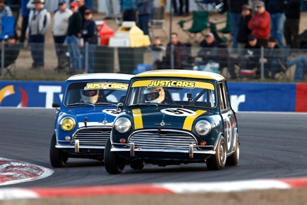 Minis racing at Historic Winton